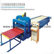 Stahl Farbige Schritt verglaste Bedachung Blech Umformmaschine (XH1100)