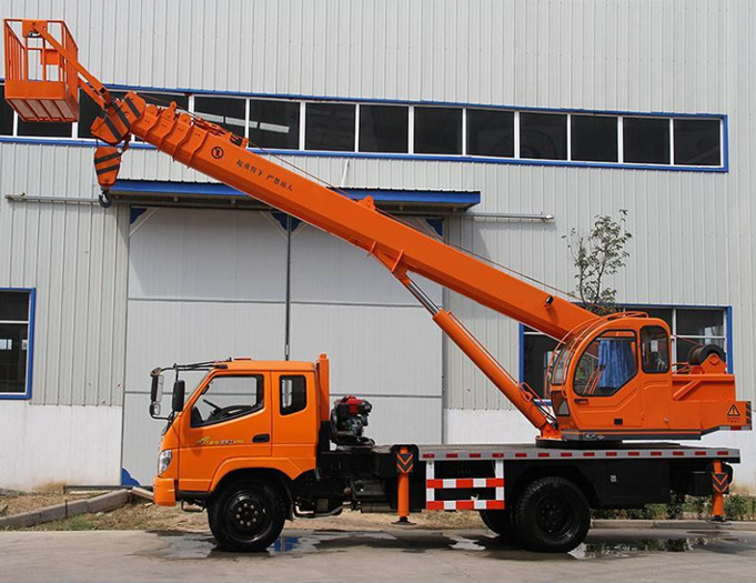 Truck Mounted Crane with Flatbed