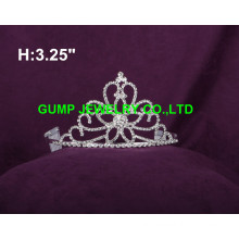flower design crystal tiara crown