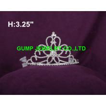 Цветок дизайн кристалл тиара корону