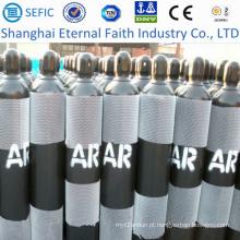 Cilindro de gás sem emenda de alta pressão do argônio 40L (ISO9809-3)