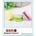 Macaron multicolorido criativo ima de geladeira