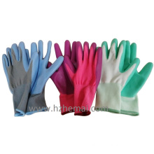 Floral Ladies Palm Coated Nitrile Gloves Gardening Gloves Work Glove