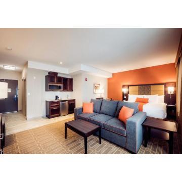 Surface en bois de tissu de tête de lit de meubles de chambre à coucher d'hôtel