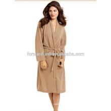 горячая распродажа дамы кашемира вязаный халат с двумя карманами