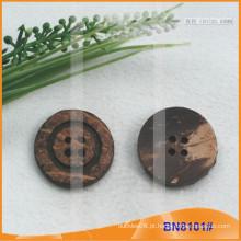 Natural botões de coco para vestuário BN8101