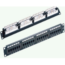 Cat6 UTP golden plated patch panel