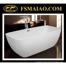Modern Fashion Rectangle Freestanding Acrylic Bathtub (9008)