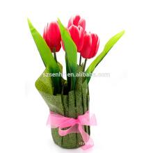 Decoración de mesa Tulipanes artificiales Centro de flores