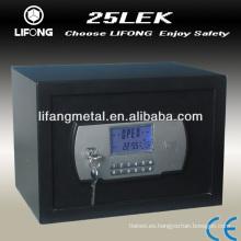Caja fuerte electrónica combinación con llaves de doble seguridad