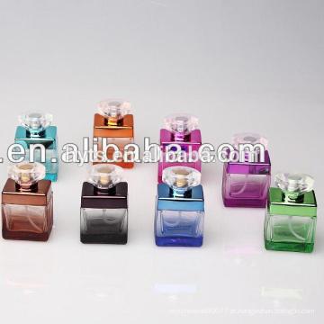 frascos de perfume de vidro extravagante