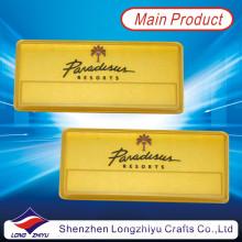 Magnetisches Gold Plated Aluminium Typenschild mit Emaille