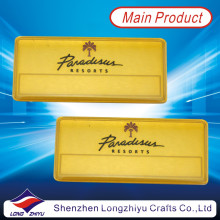 Magnetic Gold Plated Aluminum Nameplate with Enamel