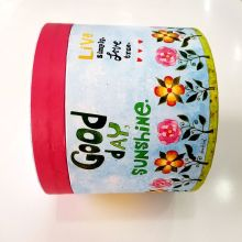 Custom hot high quality pattern paper round box