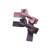 dark color satin ribbon bow Hairbow hairclip