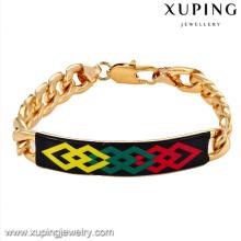 73073-Xuping jóias por atacado de moda 18k banhado a ouro homens pulseiras com liga de cobre