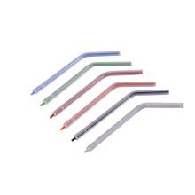 Ponta de seringa de água descartável odontológica de cor mista com núcleo de plástico