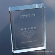 2016 Newest Crystal Book Award Crystal Trophy Factory
