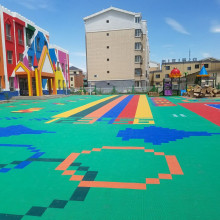 Modular Court Tiles Outdoor Playground anak-anak