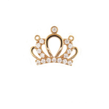 Princess Crown Pendant Inkrustowane Cyrkon