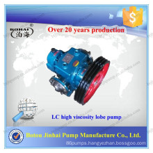 Botou Jinhai LC series high viscosity heat insulation bitumen gear lobe pump food grade liquid pumps