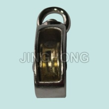 Nickel Plated Swivel Eye U.S Type Pulley With Single Wheel