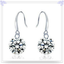 Brinco de cristal prata jewelry925 jóia de prata esterlina (se077)