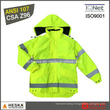 Work 3in1 High Visibility 3m Reflective Safety Jacket