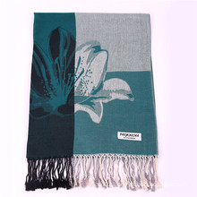 170*68cm Winter Warm Scarf Flower Pattern Pashmina for Lady