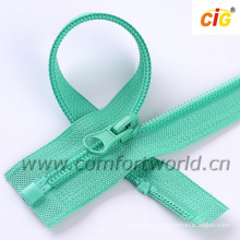 Nylon Zipper Open End With Plastic Stop and Bottom