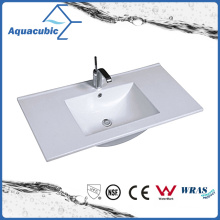 One Piece Bathroom Basin and Countertop Sink (ACB7610)