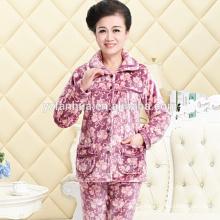 Luxus warme Velours Frauen Schlafanzug Großhandel