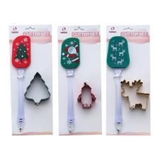 Ensemble de 2 spatules en silicone pour emporte-pièces de Noël