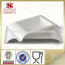 Cerámica Haoxin Vajillas alemanas Placas blancas de cerámica a medida islámicas