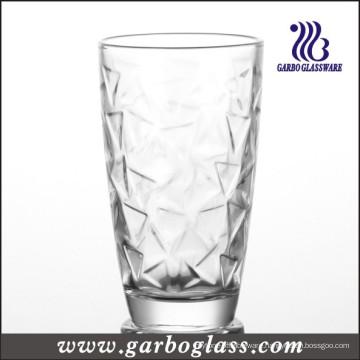Glass Cup & Machine-Pressed Tumbler with Multi-Line Design (GB027009SJX)