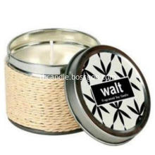 perfumed candles in tin box