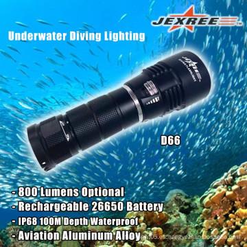 Buceo Luminosidad 800 Lumens Linternas de aluminio impermeables