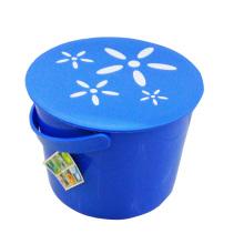 Balde de armazenamento elegante azul com alça (B05-66-13)