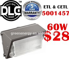 DLC UL ETL china shenzhen factory lowest price led wall light outdoor 12w 20w 45w 60w 80w 100w 120w 60w led wall pack light