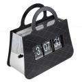 Металлические черные сумочки флип часы
