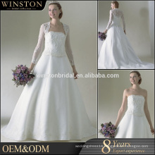 Best Quality wedding dresses lace half sleeve