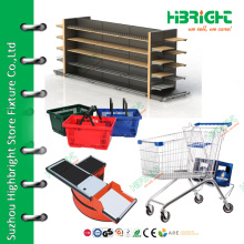 Hot sell all kinds supermarket shelf trolley basket equipments