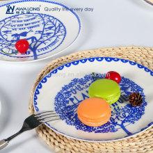 Verschiedene Jahreszeiten Zeichnung Fine Porzellan Bone China Dekorative Platte Home Decor