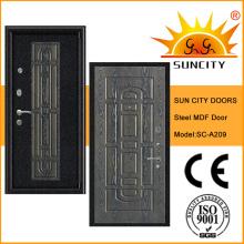 Top-Qualität gepanzerte Sicherheit MDF-Tür mit Furnier (SC-A209)