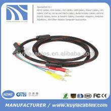 Alta calidad 5 pies cable del 1.5M HDMI al cable del RCA Audio video Cable audio / video