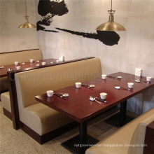 (SP-CS380) Uptop Made to Order Wooden Frame Leather Restaurant Booth