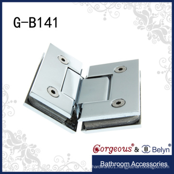 Square 135 degree french glass door hinges shower door pivot hinge
