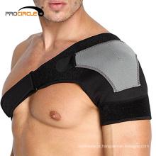 Protetor de ombro de poliéster respirável ajustável apoio desportivo