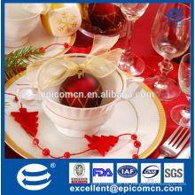 Regalo de la Navidad del hogar de la alta calidad nuevas tazas y platillos de China del hueso