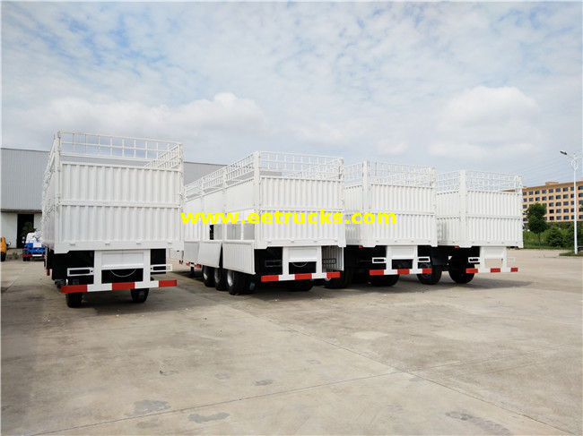 3 Axles Box Cargo Trailers